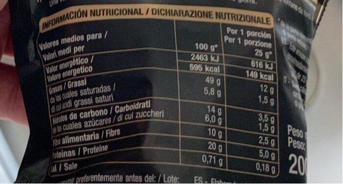 Pistachos(Auchan) - Información nutricional - es