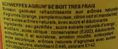 Schweppes Citrus Mix - Ingrédients