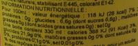 Schweppes Citrus Mix - Informations nutritionnelles