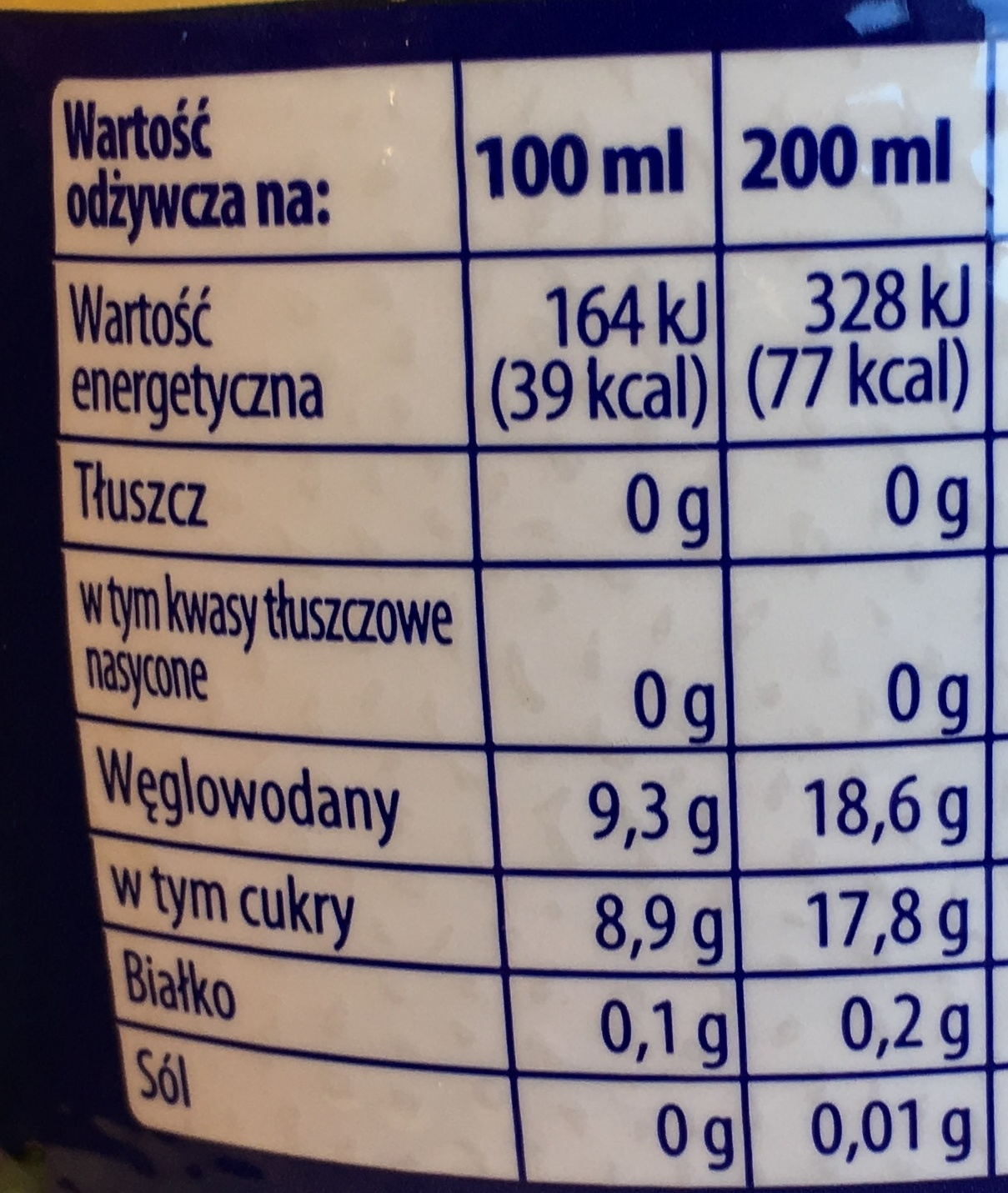 Original - Wartości odżywcze - fr