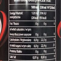 Dr Pepper Cherry - Informations nutritionnelles - fr