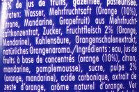 Orangina - Inhaltsstoffe - fr