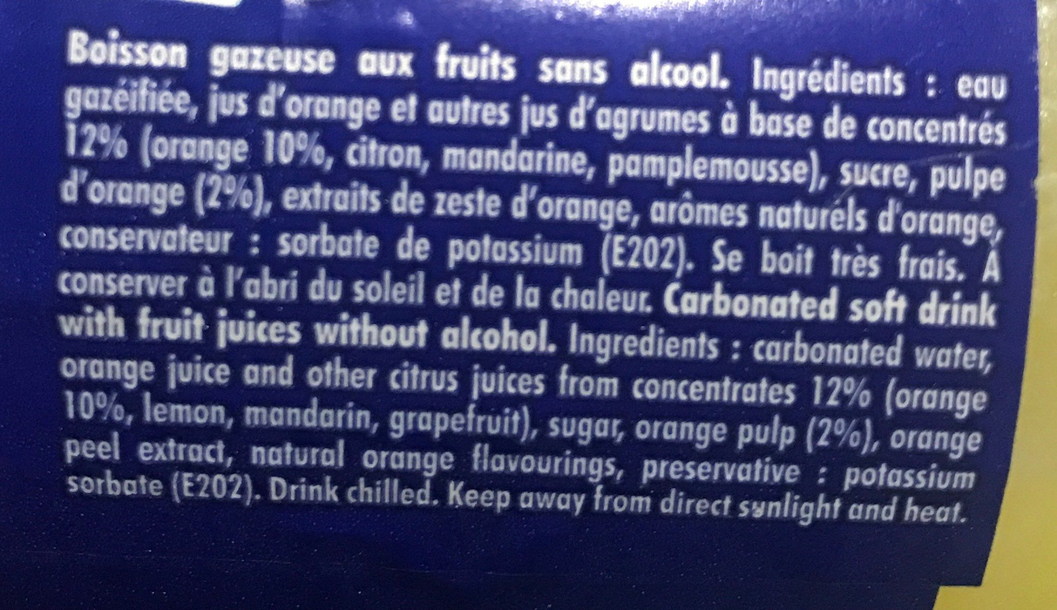 Boisson - Ingrédients - fr