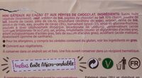 Mini Muffins Tout Chocolat - Ingrediënten - fr