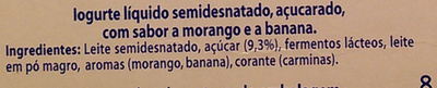 Yoggi Original Morango e Banana - Ingredients