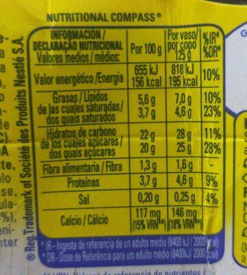 La lechera delicias de trufa - Informació nutricional - es