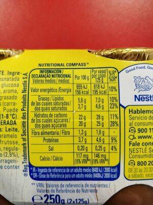 Delicias Trufa La Lechera 2 Ud De - Información nutricional