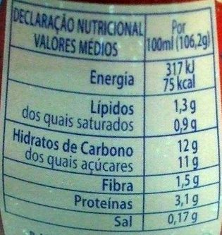 Yoggi Chocolate - Nutrition facts