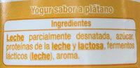 Yogur sabor a Plátano - Ingredients