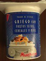 Yogur al estilo griego con frutos secos, cereales y miel - Product - es