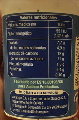 Yogur al estilo griego con frutos secos, cereales y miel - Nutrition facts - es