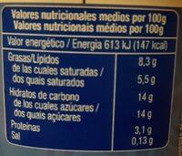 Griego con fresa - Información nutricional