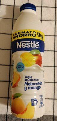Yogur líquido con melocotón y mango