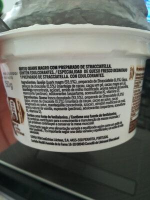 Lindahls Kvarg Stracciatella - Ingredientes - pt