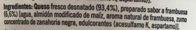 Kvarg framboesa - Ingredientes - es