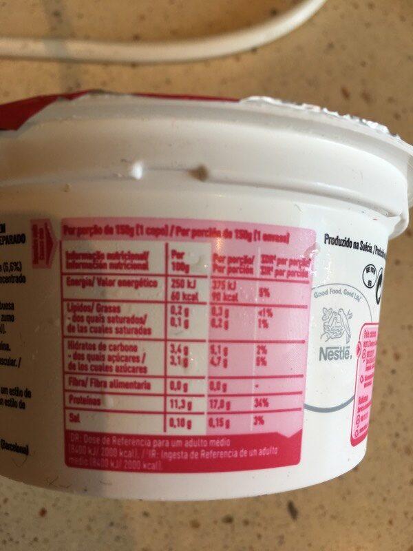 Kvarg framboesa - Voedingswaarden