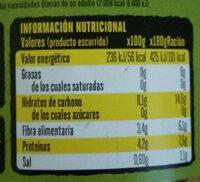 Lentejas, puerros y zanahorias - Información nutricional - es