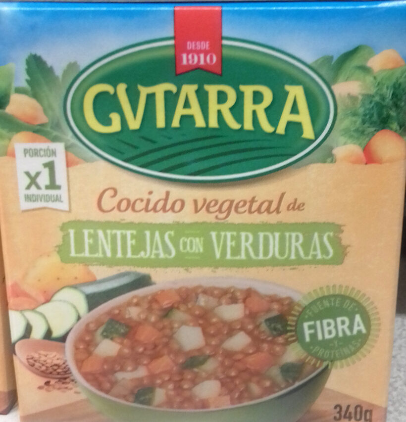 Cocido vegetal lentejas con verduras - Produit - es