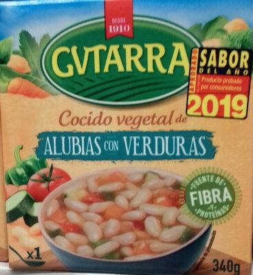 Cocido vegetal de alubia blanca con verduras