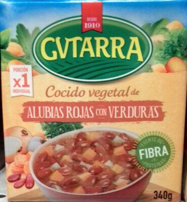 Cocido vegetal de alubias rojas con verduras