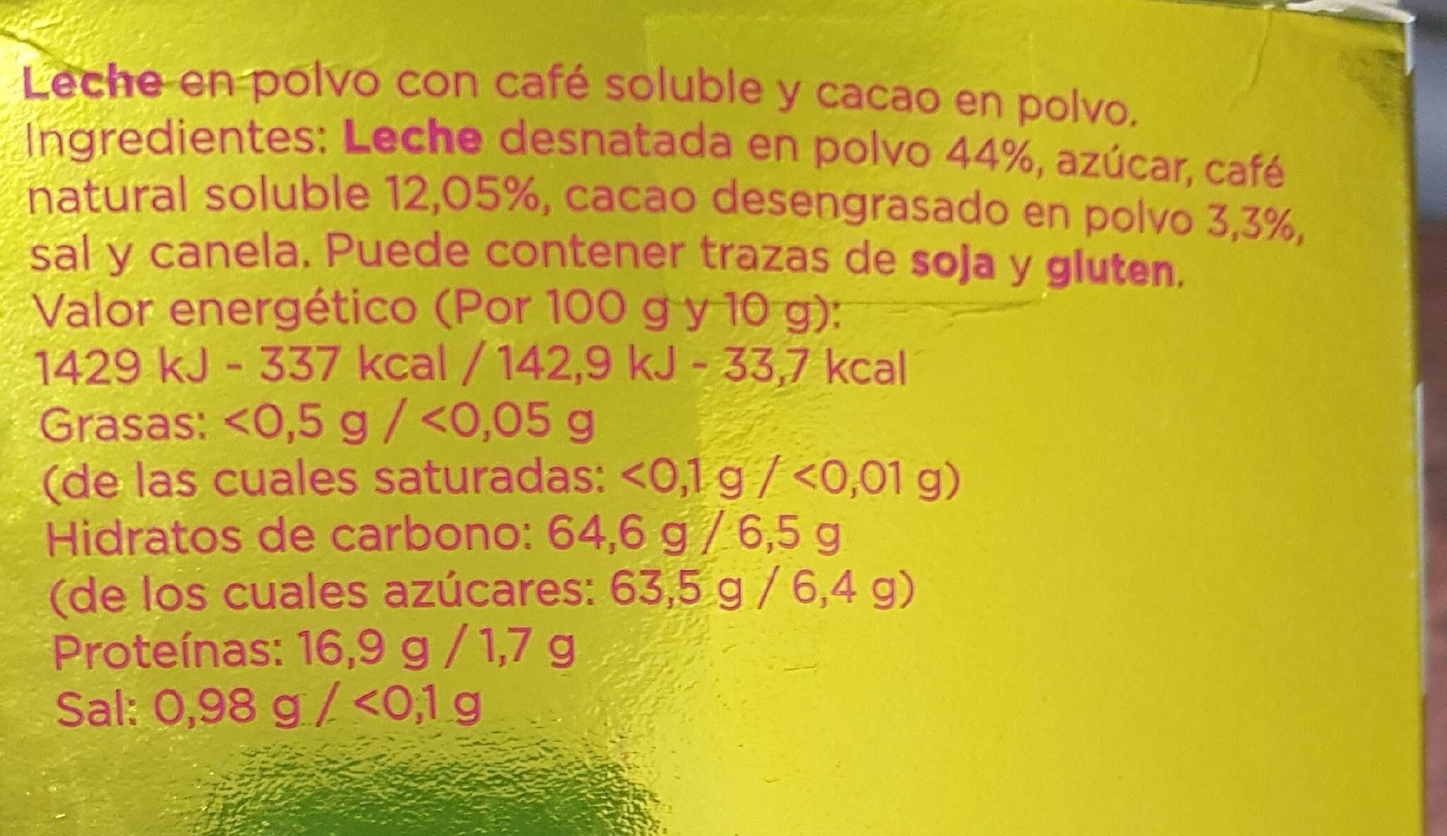 Café cappuccino - Nutrition facts - es
