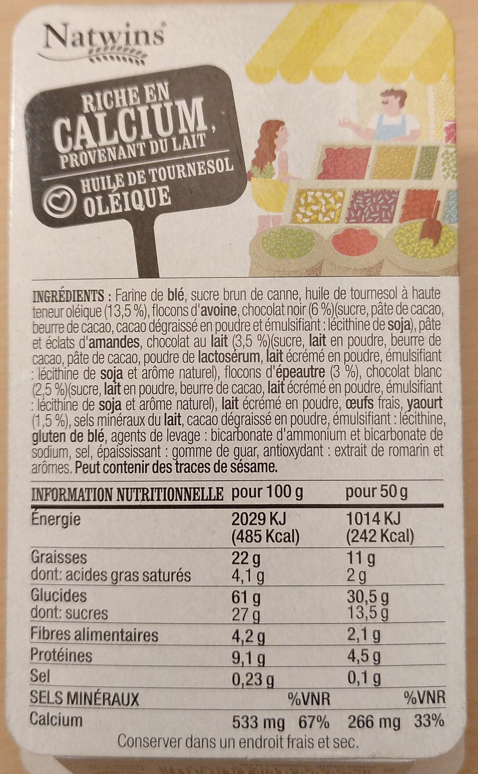 Biscuits à l'épeautre, Trois chocolats Yaourt - Product