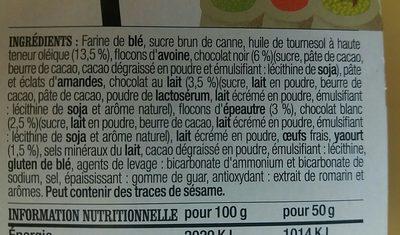 Biscuits à l'épeautre, Trois chocolats Yaourt - Ingredients
