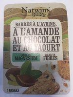 Barre a l'avoine, a l'amande au chocolat et au yaourt - Product - en