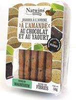 Barre a l'avoine, a l'amande au chocolat et au yaourt - Product - fr