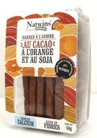 Barres à l'avoine au Cacao, à l'Orange et au Soja - Product