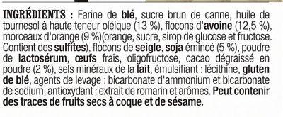 Barres à l'avoine au Cacao, à l'Orange et au Soja - Ingrediënten