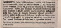 Barres à l'avoine - Ingrédients - fr