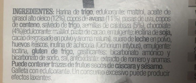 Barritas de Avena y Espelta - Ingrédients