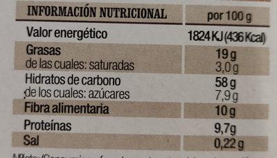 Barritas de Avena y Espelta - Información nutricional - es