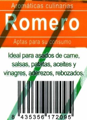 Maceta de romero - Ingredients