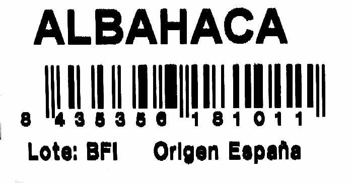 Maceta de albahaca - Ingredients