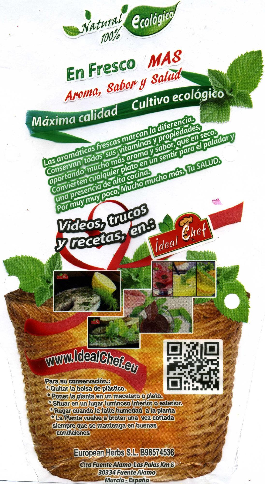 Maceta de perejil - Informació nutricional