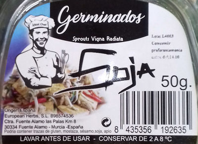 Germinados Soja - Ingredients