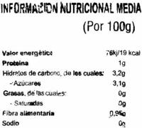 """Tomates en rama """"Gigante Verde"""" - Información nutricional - es"""