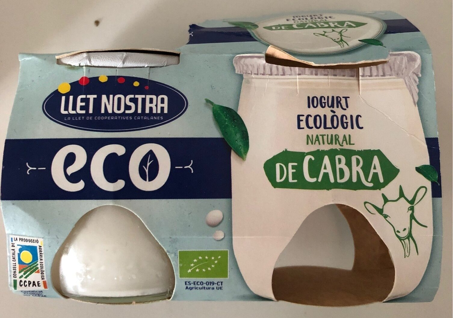 Iogurt ecológico natural de cabra - Product - es
