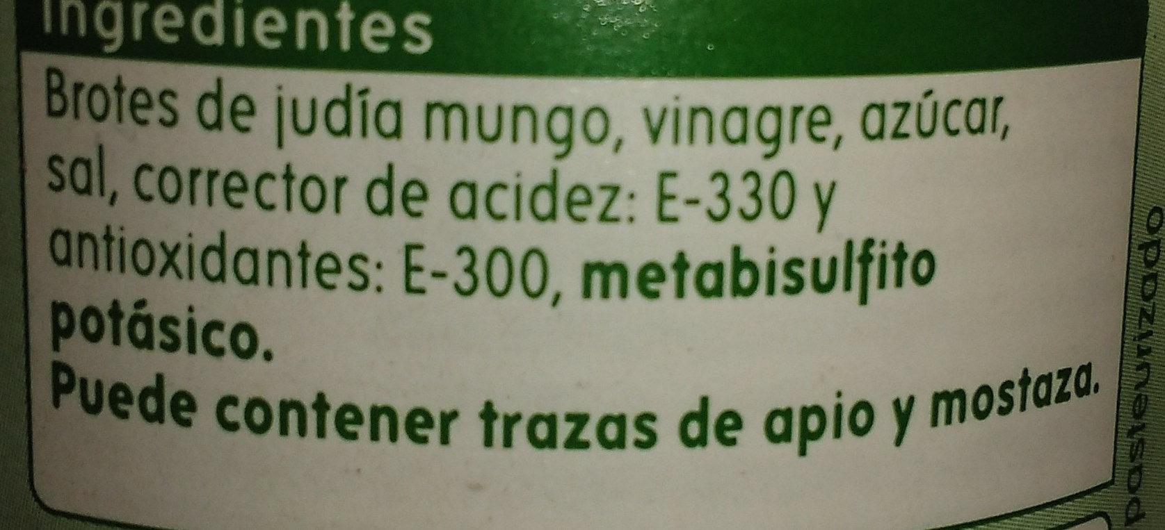 brotes germinados - Ingredientes - es