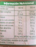 Batido sabor cacao - Información nutricional - es