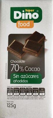 Chocolate 70% sin azúcares