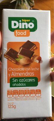 Chocolate con leche y almendras (sin azucares añadido) - Producte