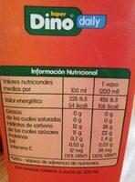 Zumo de melocotón y uva - Información nutricional - es