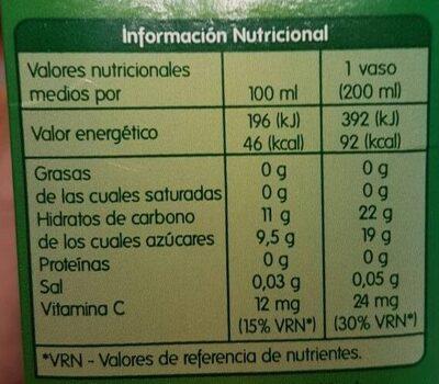 Zumo de manzana daily - Informació nutricional