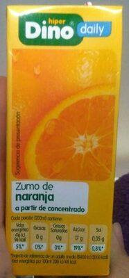 Zumo de naranja - Producte