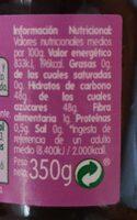 Marmelade de Arandanos - Informació nutricional - fr