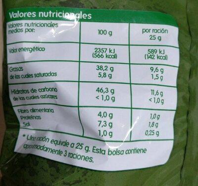 Papas fritas con aceite de oliva - Nutrition facts - es