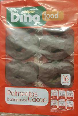Palmeritas bañadas de Cacao - Producto